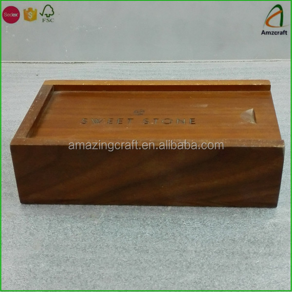 Solid Wood Walnut Keepsake Treasure Box with Compartments
