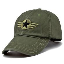 100% Cotton Men Pentagram Cap Tactical Baseball Caps Camouflage Fishing Hat  Camo Snapback Hats Bone cd2ded014a77