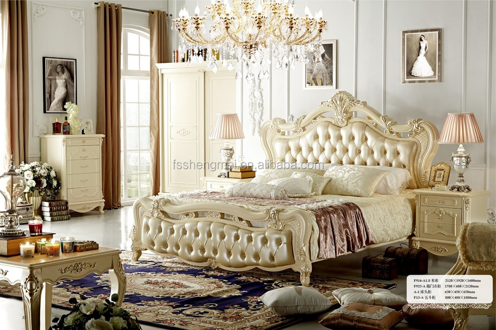 cheap classic royal furniture antique white bedroom sets, View ...