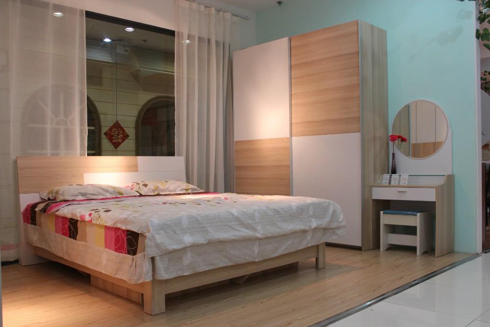 China Manufacturer Solid Teak Wood Bedroom Furniture Set With
