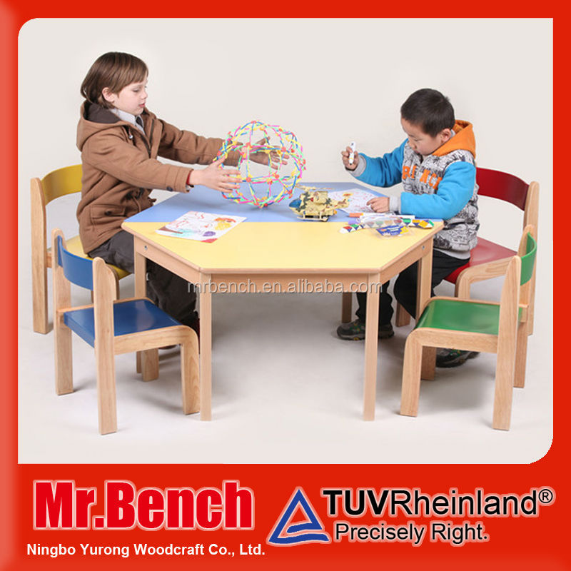 New released used school furniture wooden tables and chairs for sale kindergarten products