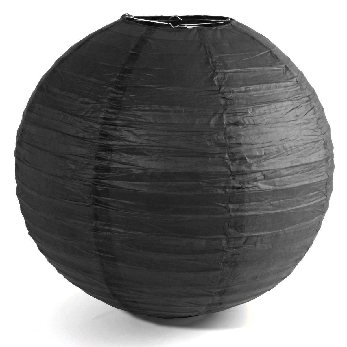 "Paper Lantern - TOOGOO(R)1 x Chinese Japanese Paper Lantern Lampshade for Party Wedding, 50cm(20"") Black"