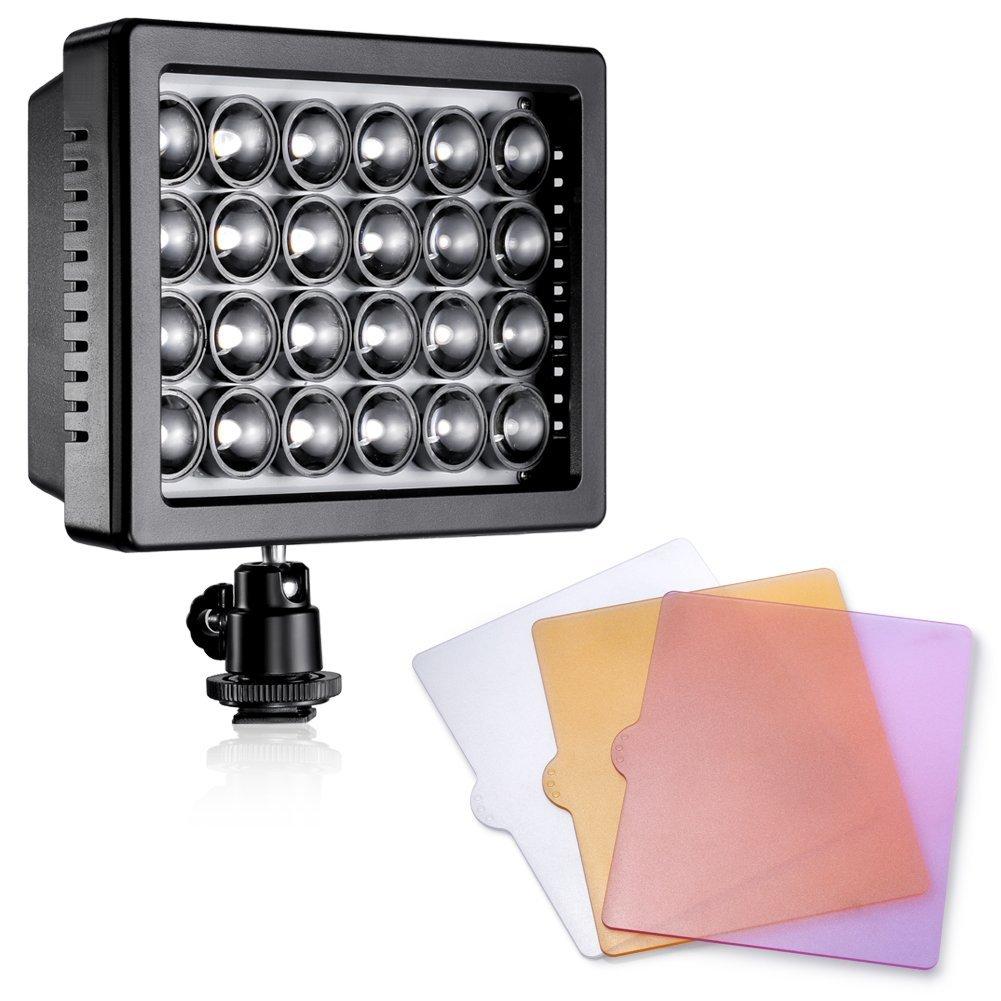 Bestlight® Professional 24Pcs LED Dimmable Ultra High Power Panel 24W 5600K/3200K Digital Camera / Camcorder Video Light for Canon, Nikon, Pentax, Panasonic,SONY, Samsung and Olympus Digital SLR Cameras