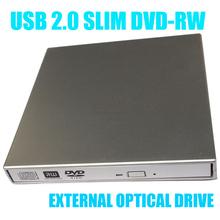 USB 2.0 Portable External Slim DVD-RW/CD-RW Burner Recorder IDE chip Optical Drive CD DVD ROM Combo Writer For Tablets PC