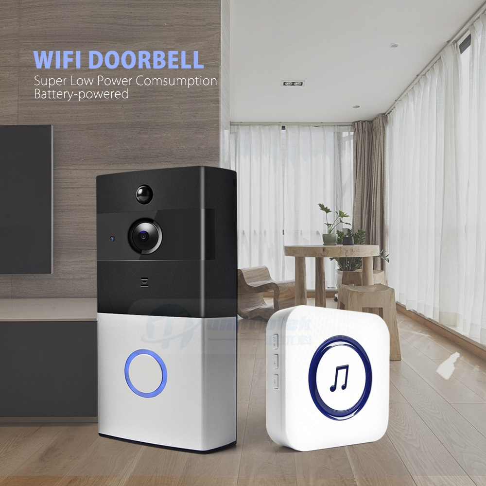 WiFi Smart Visual Intercom Enabled WIFI Video Doorbell Camera Smart Security Wifi Ring Video Doorbell with Night Vision