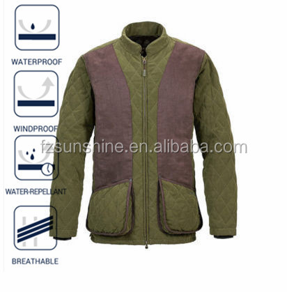2016 Quilted Waterproof Shooting Jacket for men