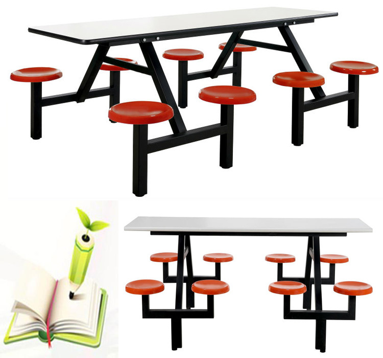 School Desk And Chair Canteen Furniture Cafe Dining Tables Folding