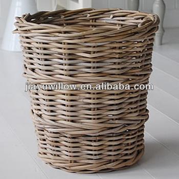 Eco Friendly Wicker Trash Can Waste Basket Buy Wicker Waste