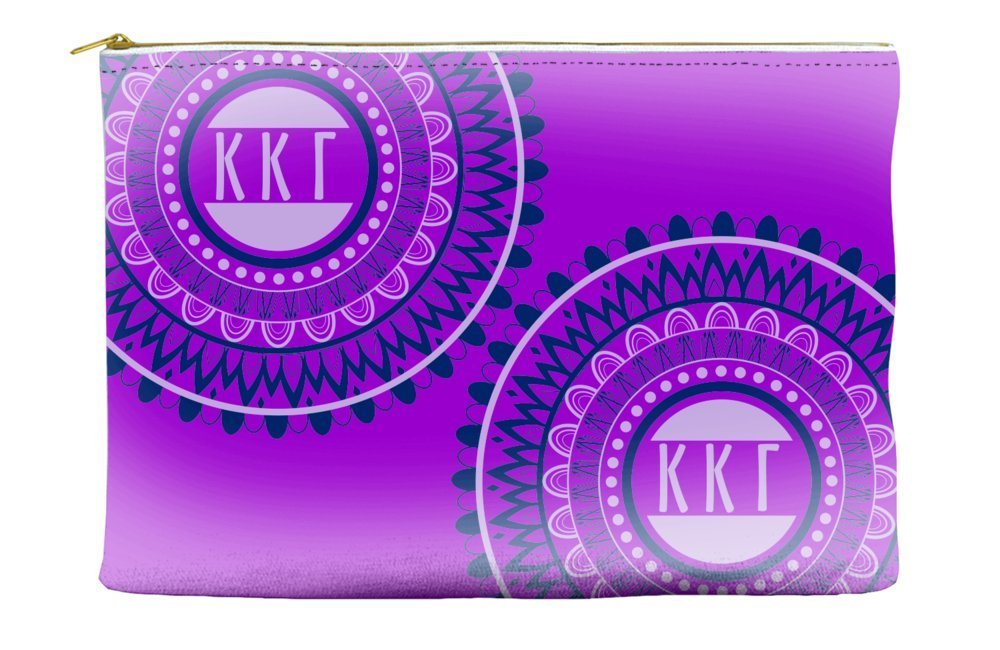 Kappa Kappa Gamma Circle Pattern Purple Cosmetic Accessory Pouch Bag for Makeup Jewelry & other Essentials