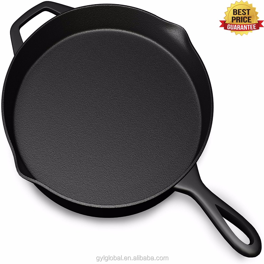 Pre Seasoned Cast Iron Skillet Oven Safe Cookware Heat Resistant Holder Indoor And Outdoor Use Grill Stovetop