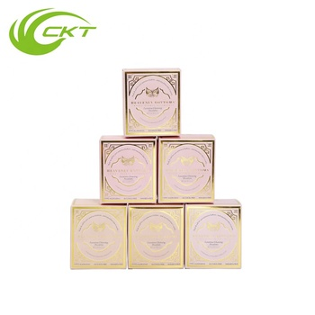 customized cosmetic skincare paper packaging box with golden foil