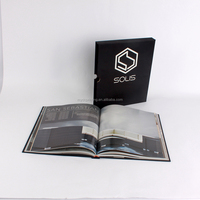 Perfect binding hardcover book printing with hard sleeve