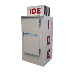 Outdoor bagged ice storage bin with logo artwork can be option