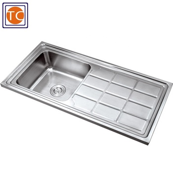 1000x460mm Stainless Steel Single Bowl Kitchen Sink With Drainboard Buy Single Bowl Kitchen Sink Stainless Steel Kitchen Sink With Drainer Single Bowl Kitchen Sink With Drainboard Product On Alibaba Com