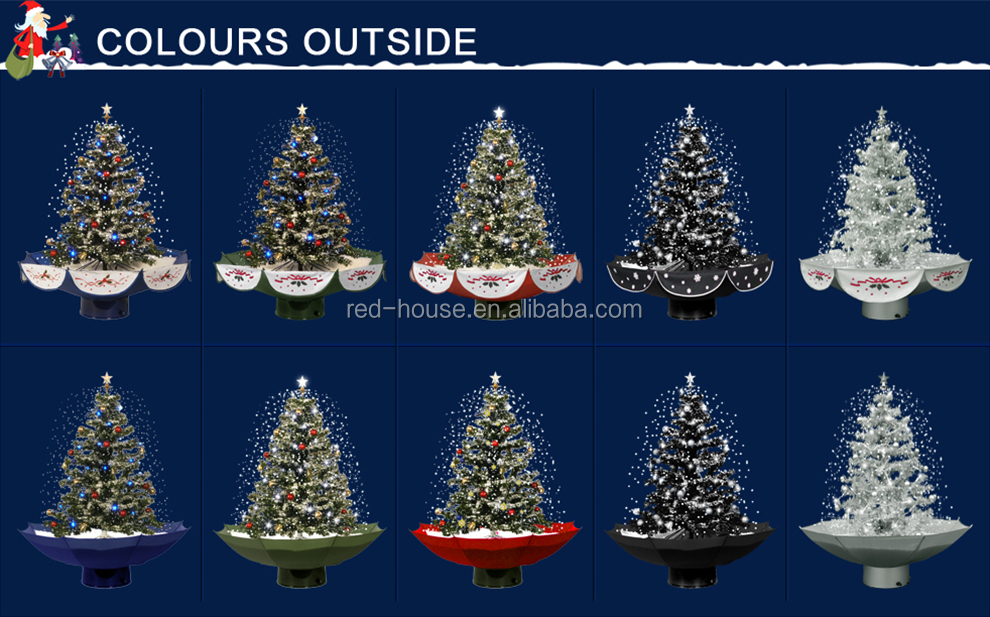 Sneeuw Fall Paraplu Base Kerstboom Kunstmatige Kerstboom Buy