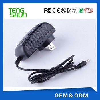 China make factory price 5v 1.5a 12v 1.5a ac dc power adapter