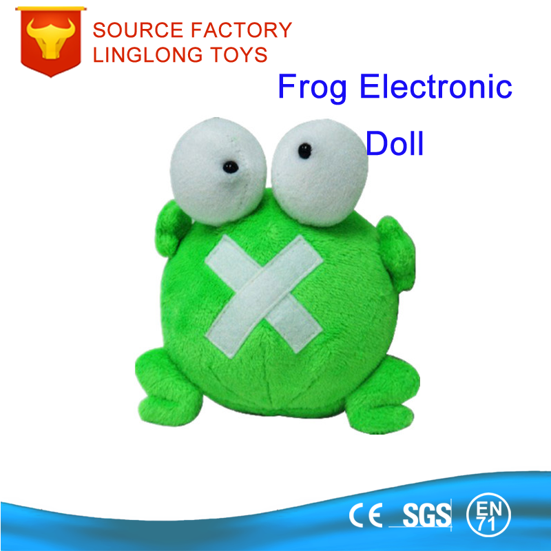Cartoon Sound Voice Doll Big Eyes Frog Toys Green Frog Plush Toys