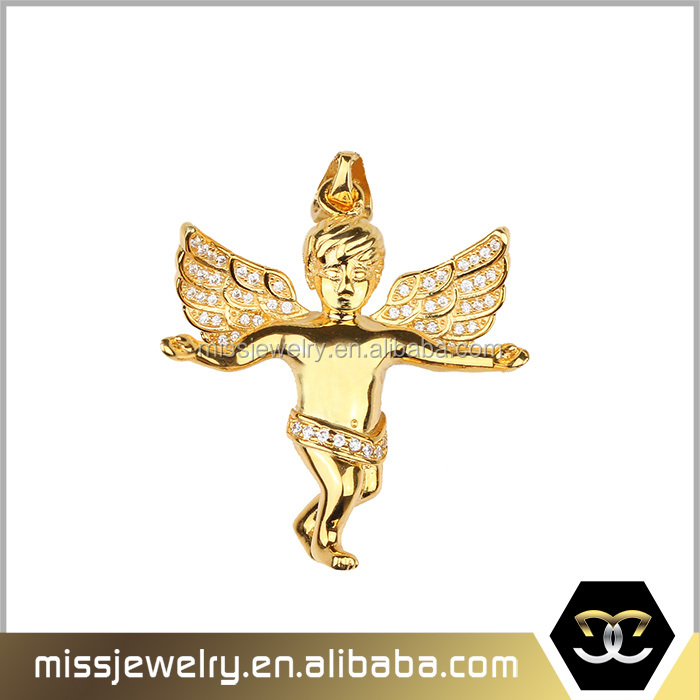 2016 Micro angel jewelry gold necklace designs in 10 grams, brass necklace chains