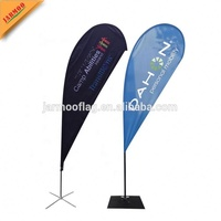 Beach Flying Banner Feather Flag Advertising Flying Beach Flag With Flagpole
