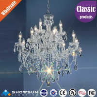 2016 Hot sale crystal lamp custom pendant chandelier crystals