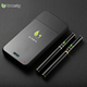 2018 small portable personal vaporizer e-cigarette 1100mah pcc portable charging case 808d e cig starter kit