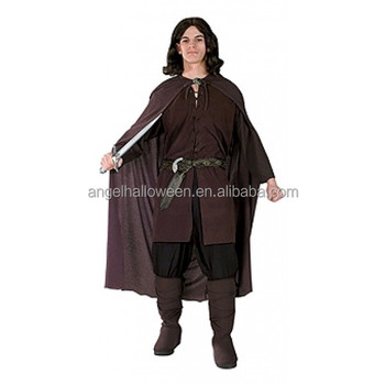 Adult Lord Of The Rings Aragorn Mens Halloween Fancy Dress Costume AGM3334