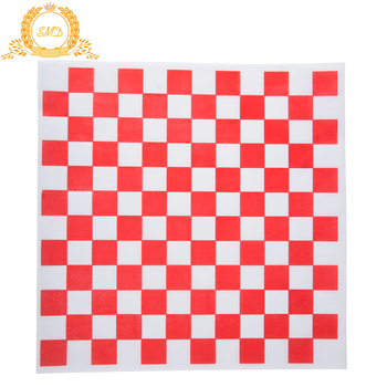"12"" x 12"" Red Check Deli Sandwich Wrap Paper"