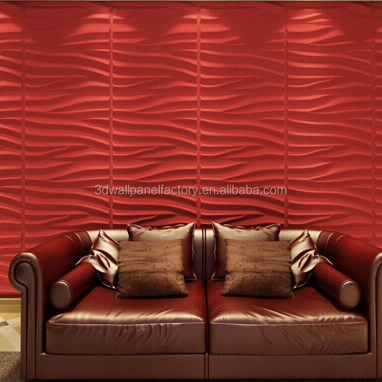 interior decorative Easy clean 3d wood wall board for living room wall