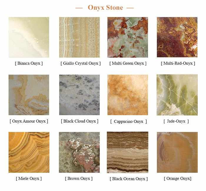 Customize Wall Tile Different Types Natural Onyx Stone