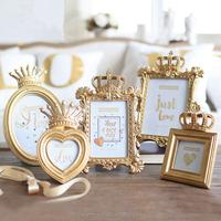 Modern design resin gold crown photo frames
