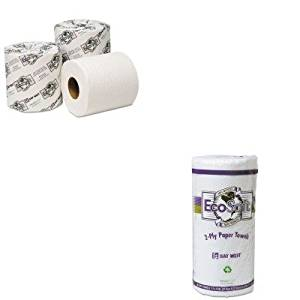 KITWAU41000WAU54000 - Value Kit - Wausau Paper EcoSoft Universal Bathroom Tissue (WAU54000) and Wausau Paper EcoSoft Household Roll Towel (WAU41000)