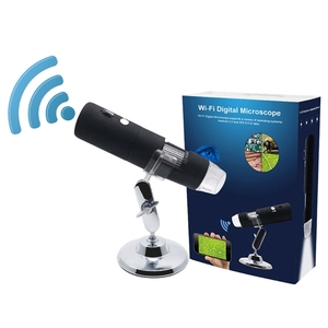 Wifi microscope 1000X 8Led Light Wireless Digital Optical stereo Electron Smartphone Microscope Camera