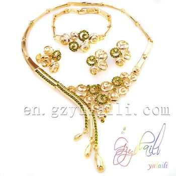 18 Karat Gold Jewelry Sets Imitation Jewellery Wedding Jewelry Set Wholesale Dubai
