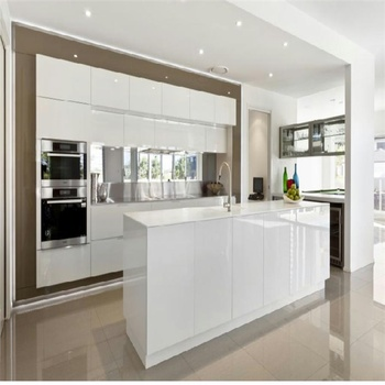 Environmentally Friendly Arch Design Solid Wood Kitchen Cabinet