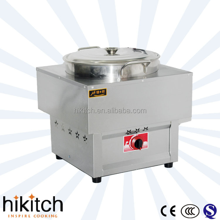 food cooker commercial stainless steel table top gas dim sum steamer