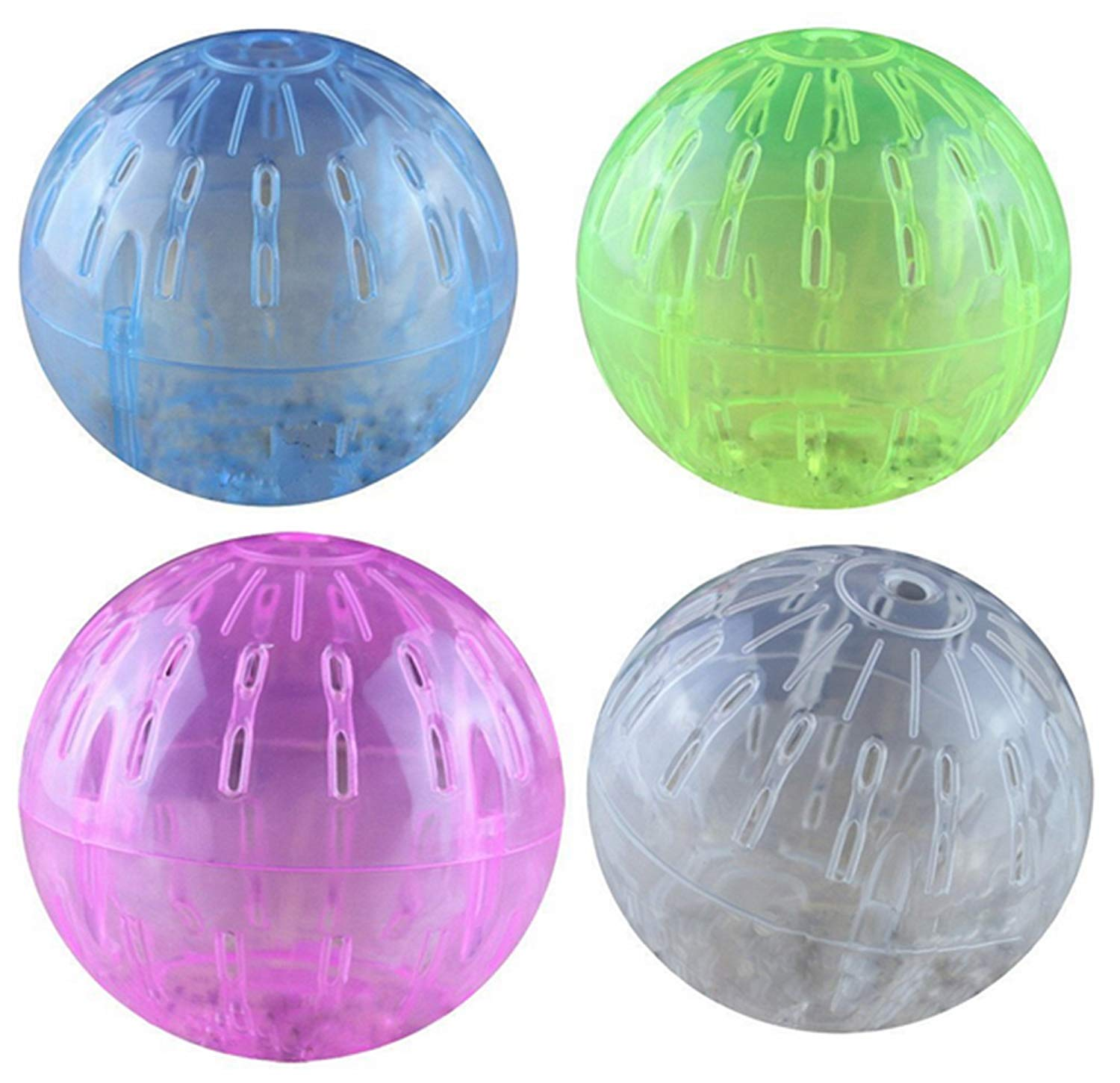 Hamster Ball, Hamster Crystal Ball, Hamster Running Ball, Play Plastic Toy Exercise Ball for Small Animals, Randomly Color