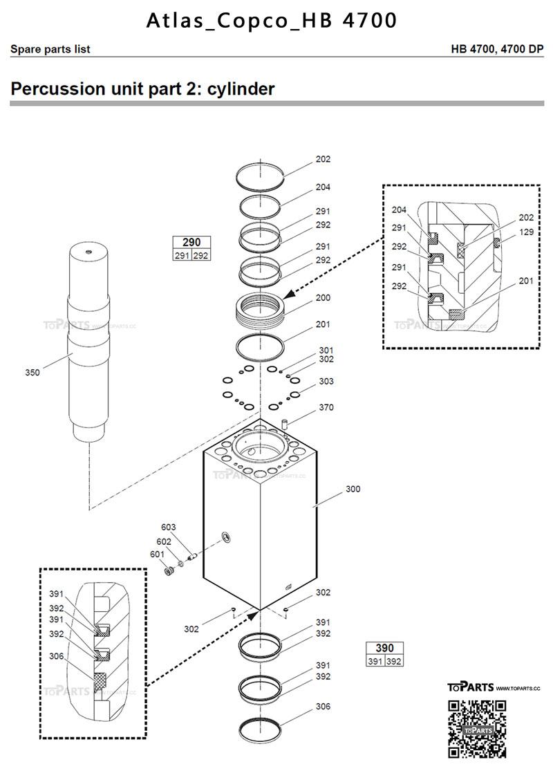 Atlas Copco Hb 4700 Hydraulic Breaker Seal Kit Hb4700 Hammer 1600 Wiring Diagram 3363 1038 36