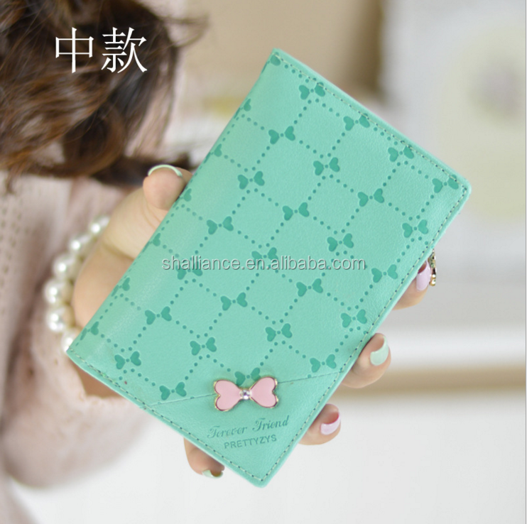 Wholesale price new fashion women embroider butterfly leather wallet