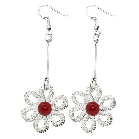 High Quality Wholesale Six-petal plum short earrings chic earring alloy earring