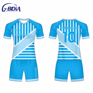 China Oem Supplier 2018 world cup uniforme de futebol unisex personalizado jersey  soccer sky blue bd5dc9a21
