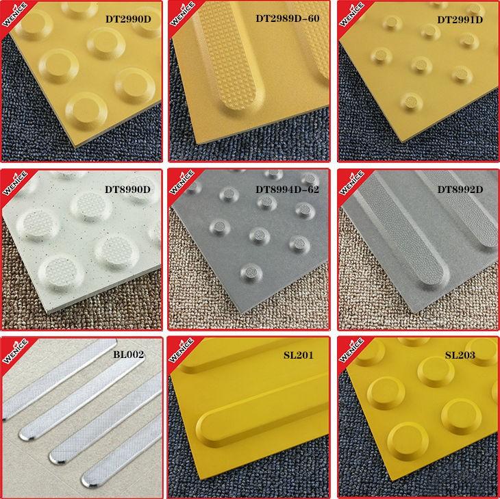 unglazed yellow porcelain tactile tiles warning track tile flooring ...
