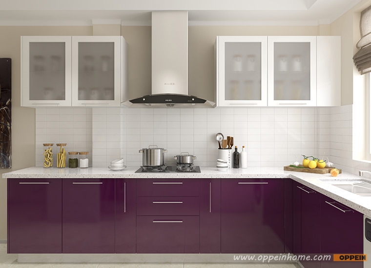 Guangzhou Oppein Wholesale White Lacquer Modular Kitchen
