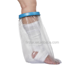 Waterproof short leg cast cover for wide adult