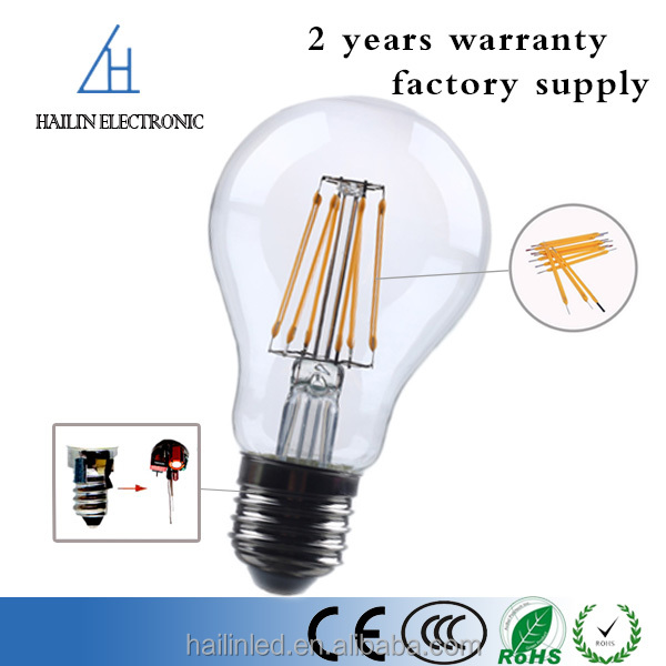 New china products for sale A60 E27 spiral lamp dimmable 5W led filament bulb with CE certificate