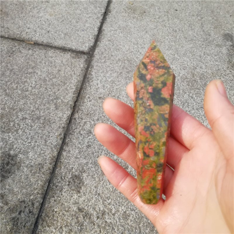 wholesale natural epidote quartz tobacco stone pipe crystal quartz smoking pipe for gifts