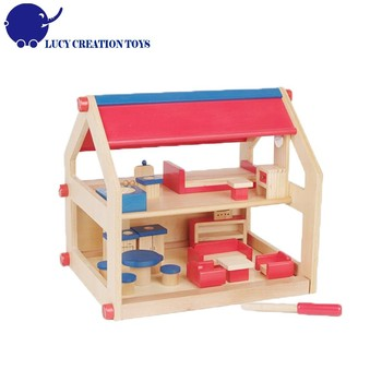 Wooden Small Toy Doll House