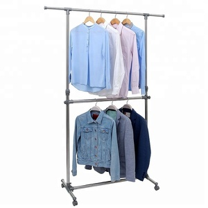 high end clothing rack display furniture iron hanger laundry rack