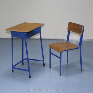 old wooden school desk and chair
