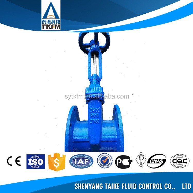 TKFM Online shopping low pressure price pn16 casted iron/steel gate structure valve in Gost standard