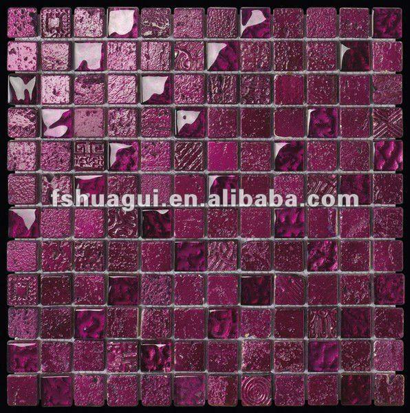 hei e verk ufe hg 823081 lila kristall glas bisazza mix. Black Bedroom Furniture Sets. Home Design Ideas